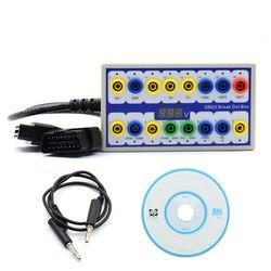 Newly Auto Car OBD 2 Break Out Box OBD2 Breakout Box OBD OBDII Protocol Detector Diagnostic Connector Detector