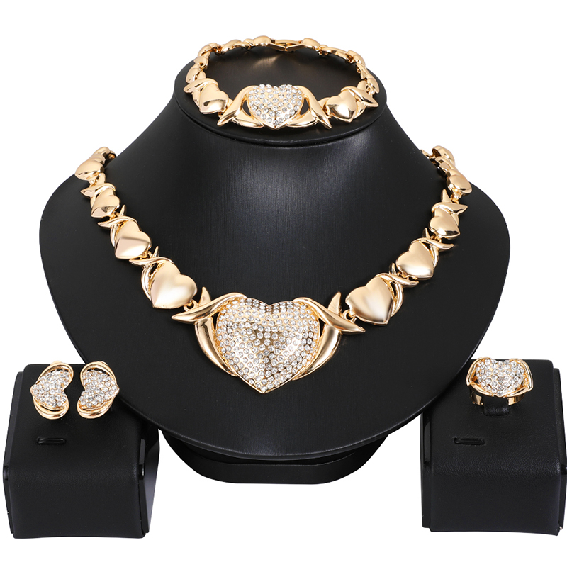 Women Dubai Jewelry Sets Luxury Bridal Nigerian Wedding African Beads Jewelry Set Costume New Design