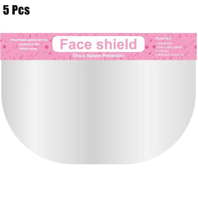 5 Pcs Anti-saliva Child Transparent Protective Mask Protective Adjustable Dust-proof Full Face Cover Mask Visor Shield 5