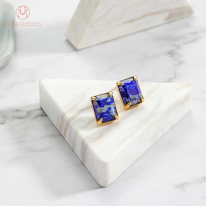 2020 สินค้าใหม่สแควร์ Lapis Lazuli ต่างหูชาติพันธุ์แฟชั่นเครื่องประดับสำหรับผู้หญิง