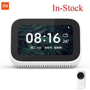 Image 3 - Xiaomi Mi AI Video kapı zili dokunmatik ekran Bluetooth 5.0 hoparlör dijital ekran çalar saat WiFi akıllı bağlantı hoparlör