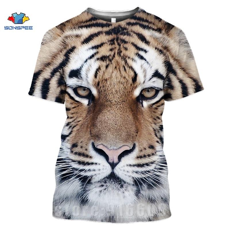 Animal Tiger Face Shirts 3D Print Horror Lion T shirt Streetwear Kid Men Women Fashion T-shirt Harajuku Shirts Homme King Tshirt (13)