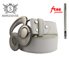 Rock Music Tool Belt Buckle Silver Earphone Metal Suitable for 4cm Width with Continous Stock