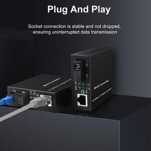 Image 2 - 20 40KM Gigabit מדיה ממיר סיבים אופטי כדי Rj45 אחת מצב יחיד Fibra אופטיקה Ethernet מתג משדר 10/100/1000M SM