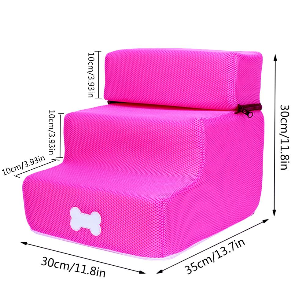 Pet Dog Stairs 3 Steps Ladder Small Dog House For Puppy Cat Pet Stairs Anti slip Removable Puppy Dogs Bed Stairs Pet Supplies in Houses Kennels Pens from Home Garden