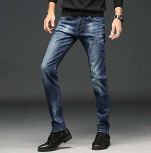 Fashion 2020 Men's Jeans Classic Stretch Slim Full Length Top Quality On Hot Sales