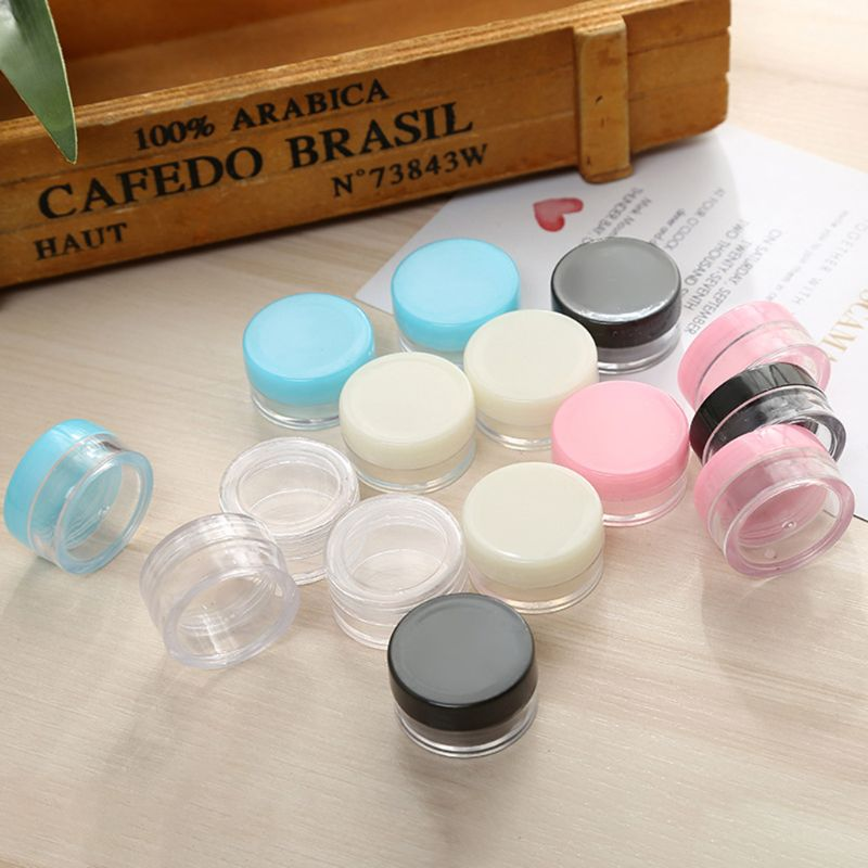 5 Gram Size Plastic Empty Cream Jar Refillable Makeup Cosmetic Container Small Round Storage Pot Box With Lids Samples Dispenser