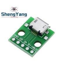 10 шт. MICRO USB для DIP адаптер 5pin Разъем конвертер печатной платы типа в pinboard 2,54