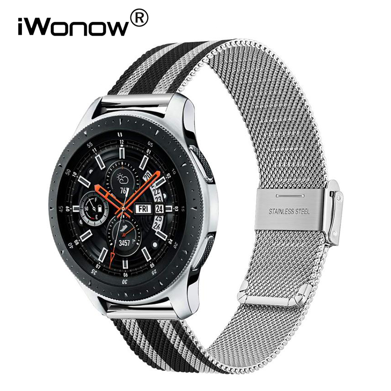 Mesh Stainless Steel Watchband For Samsung Galaxy Watch 46mm 42mm Active 2 40mm 44mm Quick Release Band Milanese Strap Bracelet