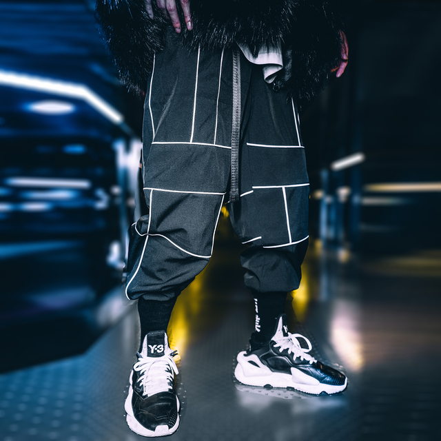 Harajuku Pant Joggers Hip Hop Reflective Japanese pants Streetwear Thin Sweatpant Trousers 30
