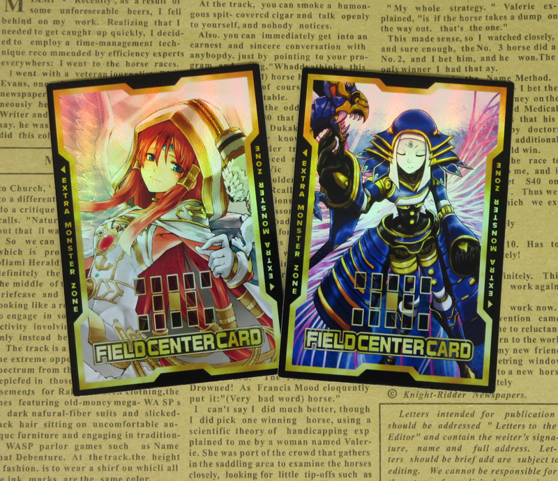 2pcs/set Yugioh Minerva Lightsworn Saint El Shaddoll Construct Field Center Cards AlterArt Orica Yu-Gi-Oh! OCG Classic Card