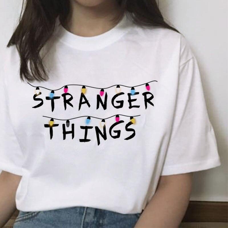 Stranger Things 3 Women T Shirt Harajuku Eleven Female 2019 Cartoon Hip Hop Femme Tshirt Streetwear Funny Clothing  Casual