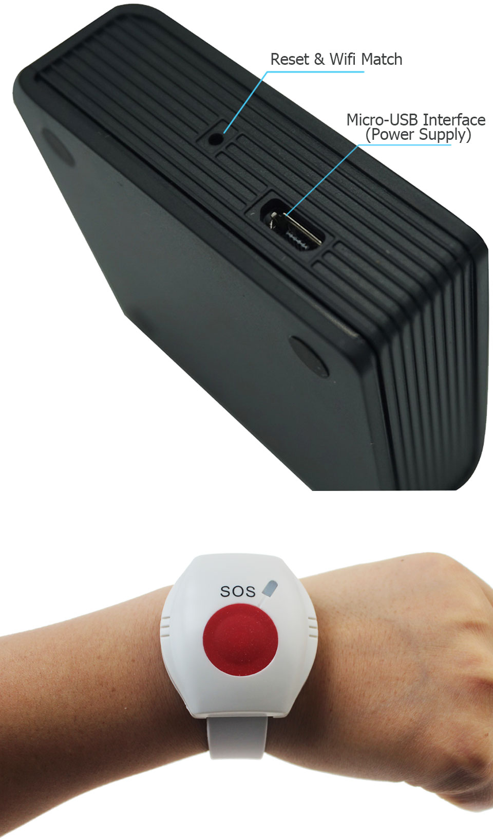 relógio pulseira idosos android ios app