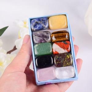 10 Pcs /Set Natural Tumbled Stone 15-20mm Mix Rock And Quartz Rose Bead Chakra Healing Crystal Irregular Polishing Amethyst Home
