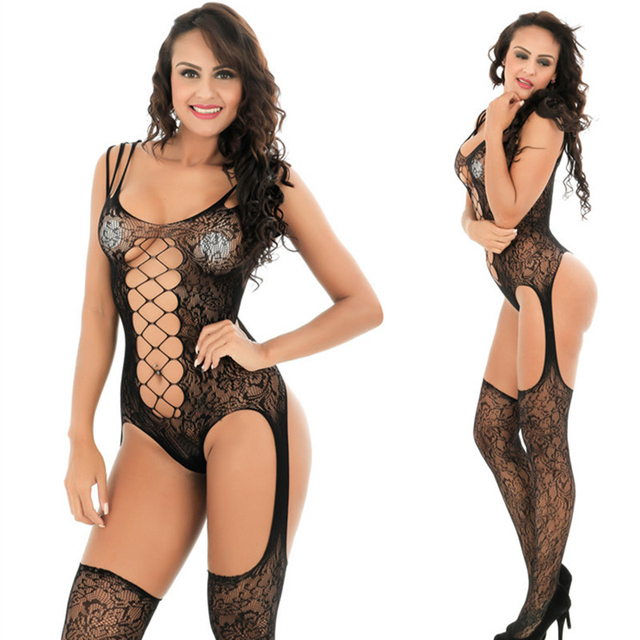 Sexy lingerie Teddies Bodysuits hot Erotic lingerie open crotch elasticity mesh body stockings hot porn sexy underwear costumes 3