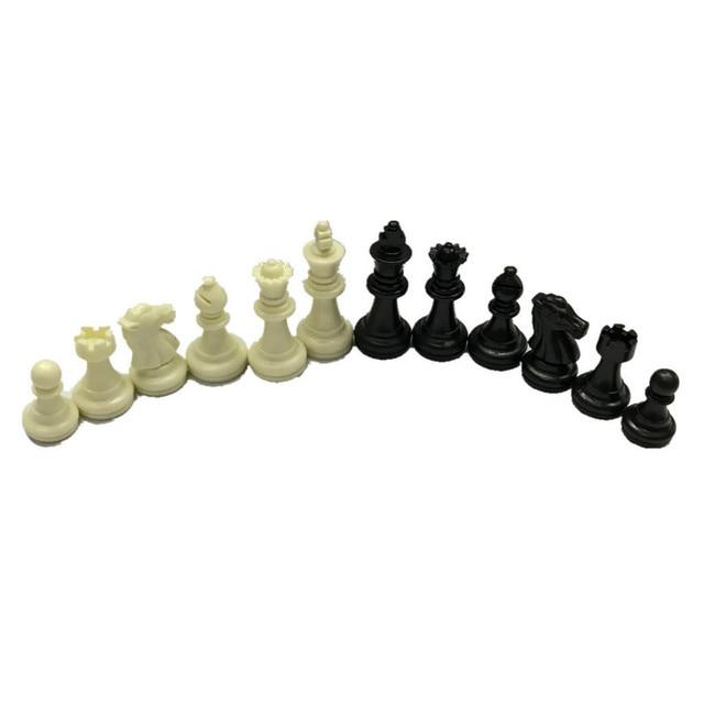 Ensemble de figurines d'échecs en plastique de 49mm de haut, environ 80 grammes, sans plateau 3