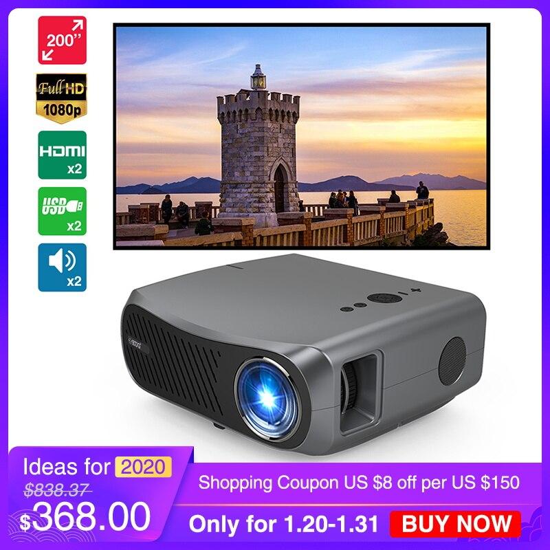 CAIWEI A12 Home cinéma natif 1920*1080P Full HD LCD projecteur 10000:1 Ratio soutien 4K intelligent Android tv LED cinéma WiFi Beamer
