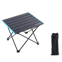 طاولة قابلة للطي في الهواء الطلق المحمولة صغيرة خفيفة سبائك الألومنيوم للطي مكتب للتخييم الشواء|التخييم الجداول|   -