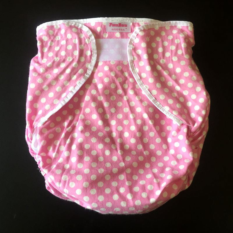 Free Shipping FUUBUU2006-Pink Dot-70-100CM Free Adult Diapers Large Pvc  Adult Cloth Diaper Adult Incontinence Pants For Adults