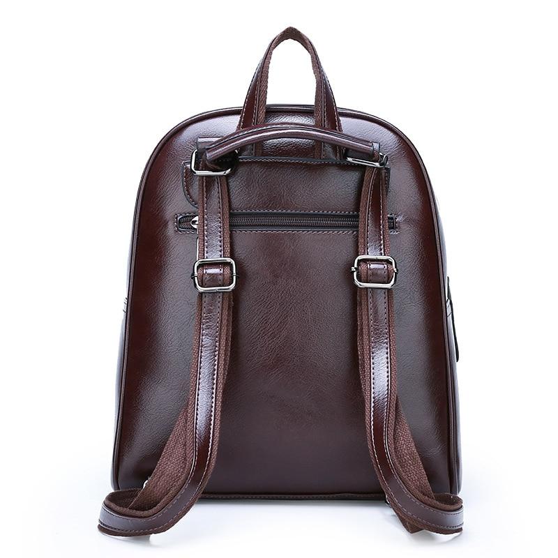 Image 3 - ZMQN Vintage Leather Backpack Women 2020 Mochila Feminina Big  Capacity Bagpack School Bags For Teenage Girls Bag For Female  C130Backpacks