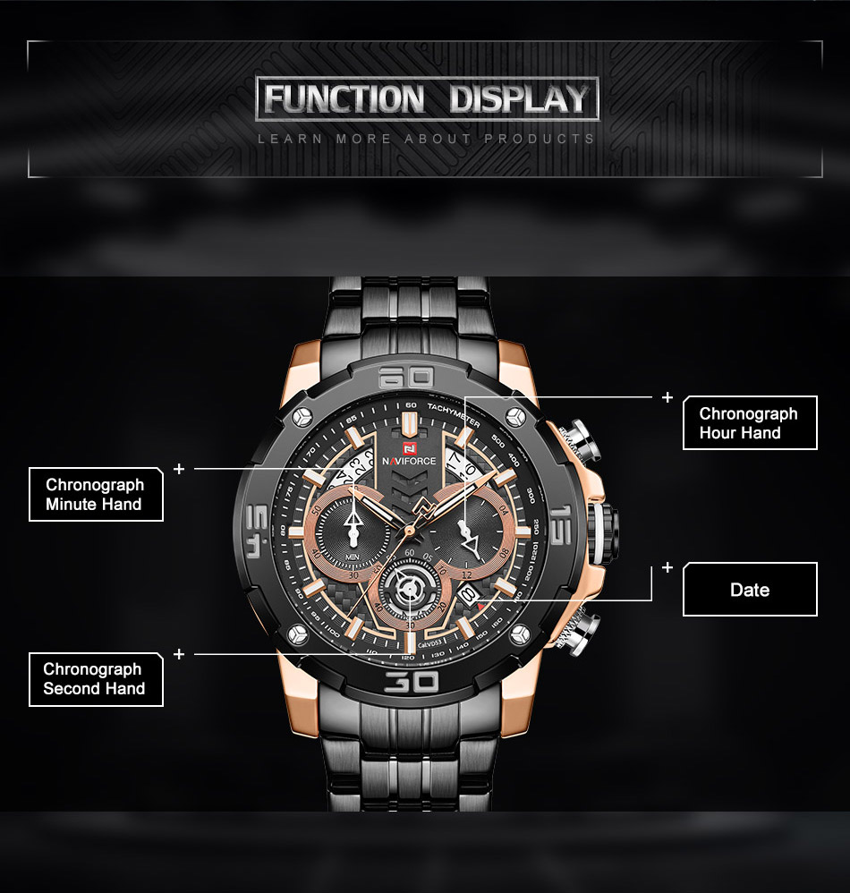 NAVIFORCE NF9175 Stainless Steel Watch 4