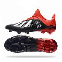 2020 Nicht-rutsch Verschleiß-beständig Leucht Rasen Fußball Schuhe Männlichen Spikes FG Ausbildung Gebrochen Nagel Ausbildung Fußball Stollen