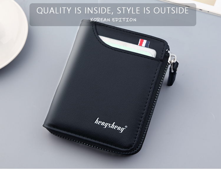 H05d4c248dae04410a1807cecc997a779a - New Men's Genuine Leather Short Wallet Fashion Luxury Brand Coin Purse Driver's License Bag Purse For Men card Mini Wallet