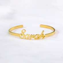 Custom Name Bangles For Women Silver Gold Chain Stainless Steel Customized Name Bracelets Jewelry Personalized Gift For Her BFF