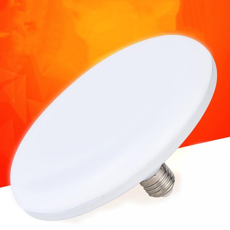 Led Bulb Super Bright Energy Saving White Light Flying Saucer Lamp E27 Screw Port  Factory Workshop Lighting 220v Home