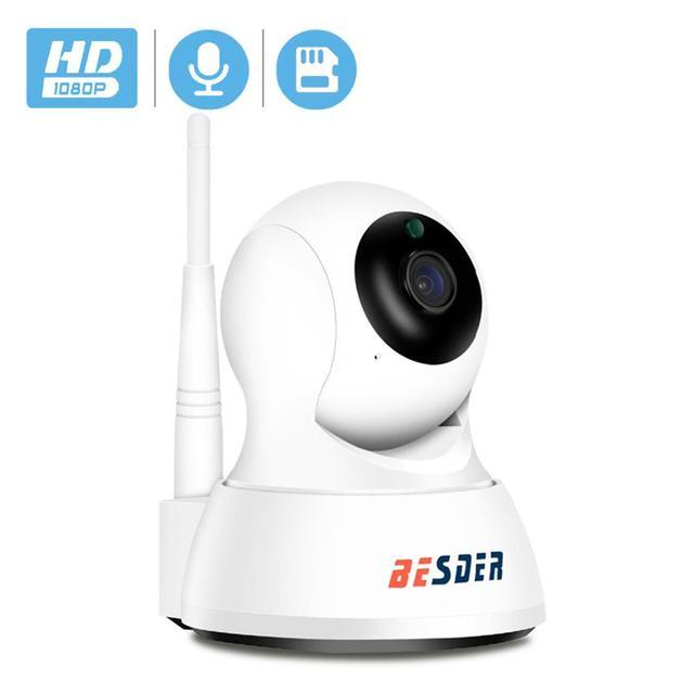 Умная ip камера BESDER Home для безопасности, Wi Fi, 1080P, P2P, двусторонняя аудиосвязь, Радионяня, датчик движения, наклонная мини камера видеонаблюдения, IP