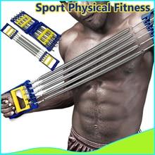 Men's Chest Expander 5-Spring 75kg/165lb(total) Men Power Exerciser With Grip Home Fitness Equipment