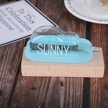 Desktop Weather Forecast Bottle Base Storm Wood Bottle Bracket Barometer Shelf Mini Sturdy Crafts Cloud Shape Glass Decoration tanie tanio Stylish Maskotka Szkło Europa