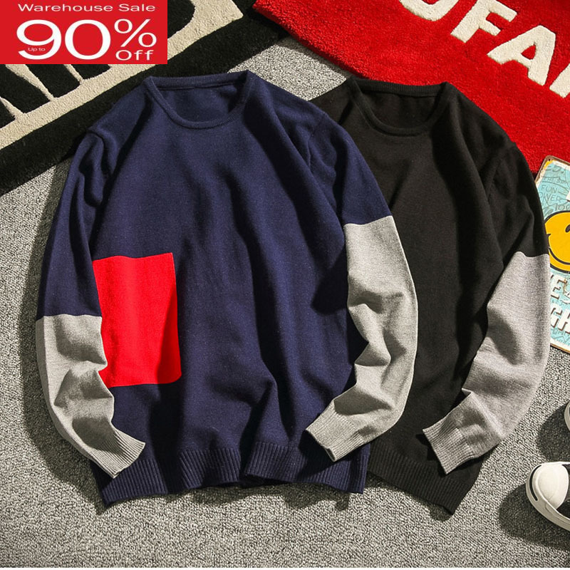 Men Sweater 2020 New Arrival Autumn And Winter Thin Male Knitted Tops Teenage Boy O-Neck Korean Style Plus Size 4XL 5XL M51
