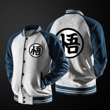 ZOGAA Anime Dragon Ball Goku Varsity Jacket Autumn Casual Sweatshirt Hoodie Coat Jacket Brand Baseball Jacket недорого