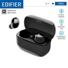 EDIFIER TWS1 Draadloze Bluetooth Oortelefoon V5.0 Ondersteuning Aptx IPX5 Touch Control Bluetooth Oordopjes 3D Stereo Draadloze Koptelefoon