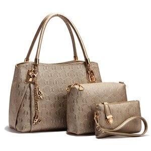 Женская сумка, сумка на плечо, дизайнерская, роскошная, 2020, искусственная кожа, 3 шт., через плечо, сумочка, кошелек для женщин