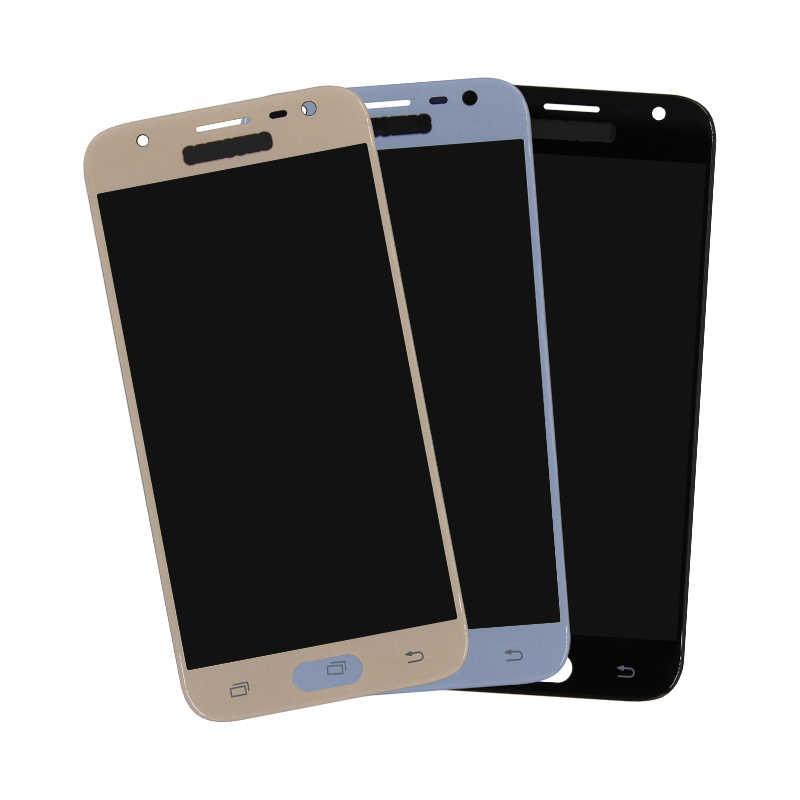 الأصلي شاشات LCD لسامسونج غالاكسي J3 2017 عرض مجموعة المحولات الرقمية لشاشة تعمل بلمس سطوع التحكم ل J3 برو J330F J330 LCD