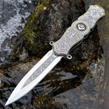 Stainless Steel Pocket Knife, Sharp Folding Knife, Outdoor Camping Travel Hunting Knife, Compact and Safe Everyday Carry Outdoor