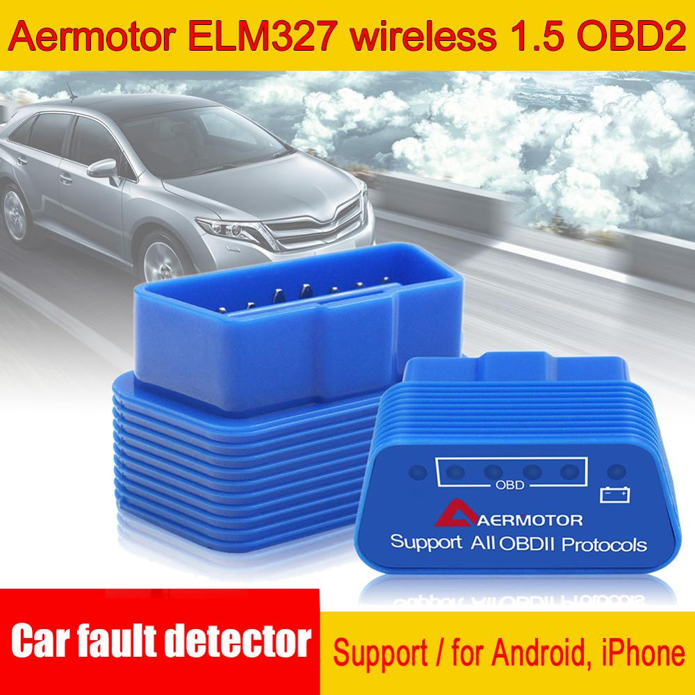 Rush Sale Aermotor ELM327 WIFI OBD2 Support Android Car Fault Detector Suitable For Android & Apple Wholesale Quick Delivery CSV