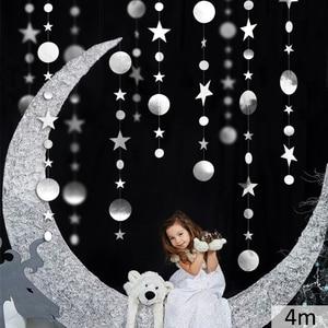 Image 5 - Cartel de estrella de papel brillante de 4M, decoraciones para fiesta de cumpleaños, niños y adultos, género, revelo para niño y niña, primeros suministros de princesa, navidad