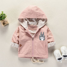 Newborn Baby Girl Spring Cotton Coats Infant Outerwear Hooded Jackets