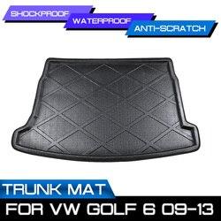 Коврик для багажника автомобиля, водонепроницаемые напольные коврики, коврик для защиты от грязи, поднос для груза для VW Golf 6 2009-2013