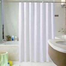 Rideau de douche en plastique tout blanc, résistant à l'eau, épais, résistant à la moisissure, pour baignoire, PEVA, doublure de luxe avec crochets