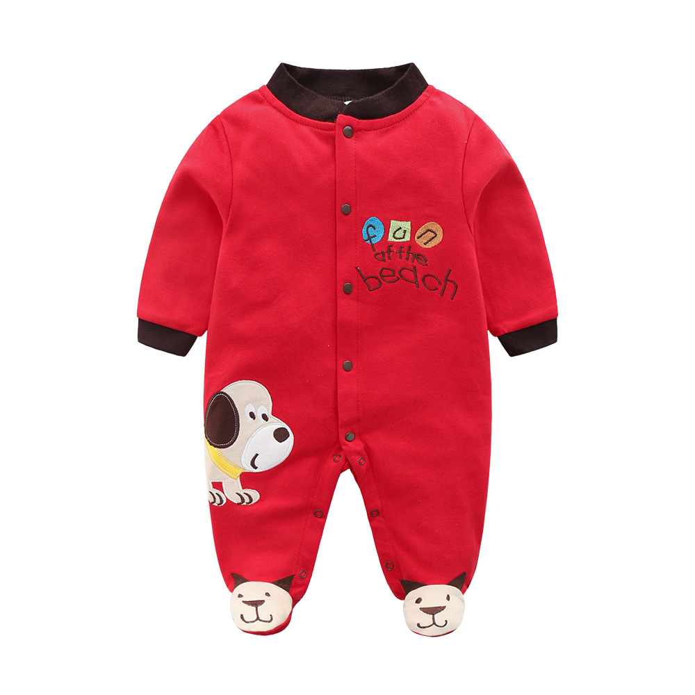 New Fashion Christmas Winter Baby Rompers Cotton Footed Baby Boys Clothes Infant Cartoon Baby Romper bebe Baby Girl Clothing
