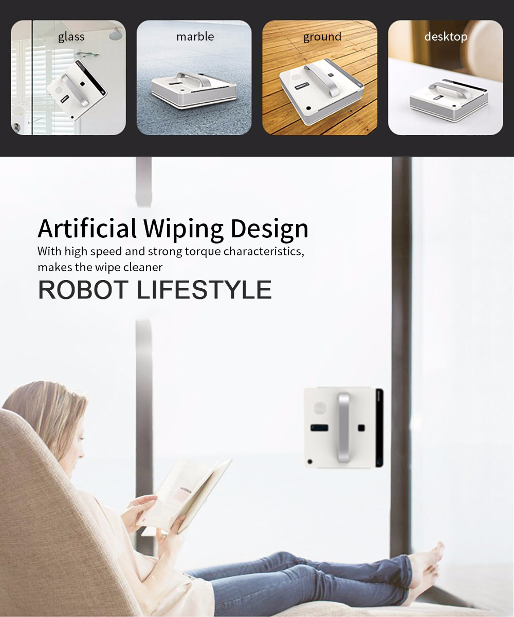 Intelligent Path Planning Robot Window Cleaner with Remote/Mobile App Control 5