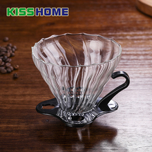 где купить Reusable Glass Coffee Filter Heat Resistant Coffee Drip Filter Practical Cup Coffee Filter Funnel Durable Coffee Accessory дешево