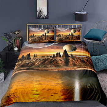 Mysterious Land Bedding Set King Fantsay Moon Beautiful Duvet Cover 3D Queen Twin Full Single Double Unique Design Bed Set image