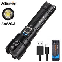 Alonefire H38 Lamp xhp70.2 most powerful flashlight Tactical Torch Waterproof Te