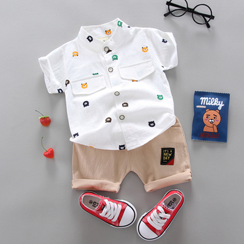 Hot Sale  Boys Clothing Children Summer Boys and girls Clothes Set shit+Pants Kids Girl's Clothing Sets Cotton Sportswear 1