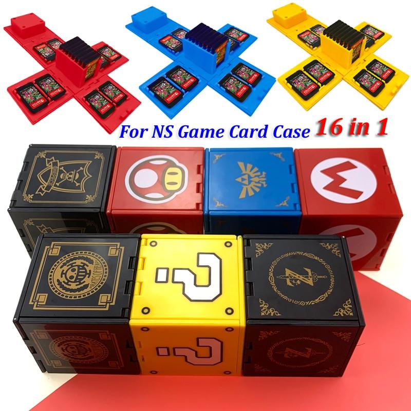 5 pièces date pour ntint Switch antichoc jeu cartes Case NS coque rigide boîte pour Nitend Switch jeux accessoires de stockage 16 en 1